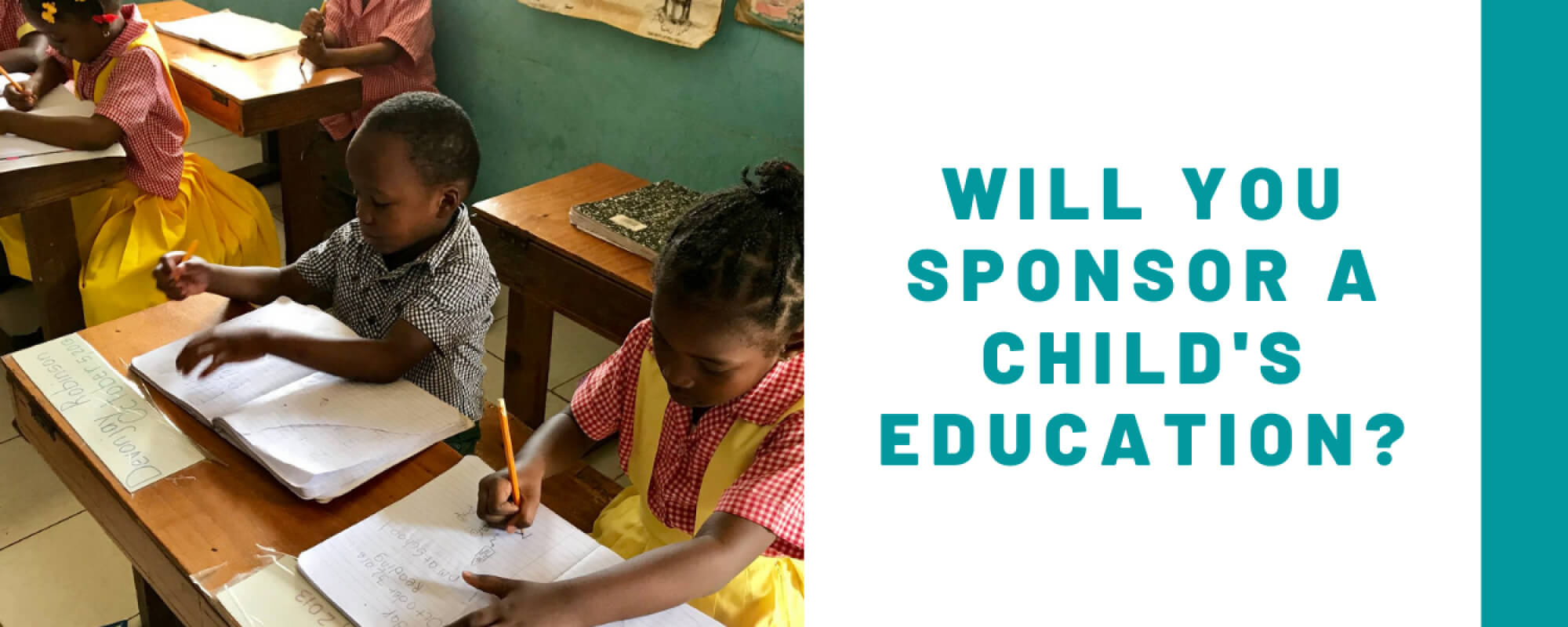 Will You Sponsor a Child's Education