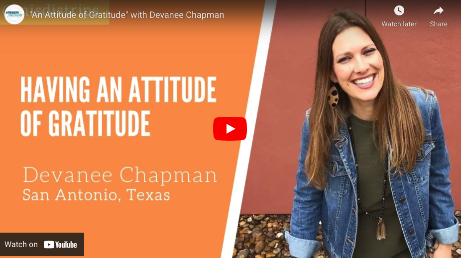 Having and Attitude of Gratitude