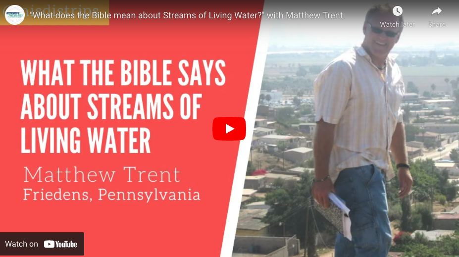 What the Bible Says About the Streams of Living Water