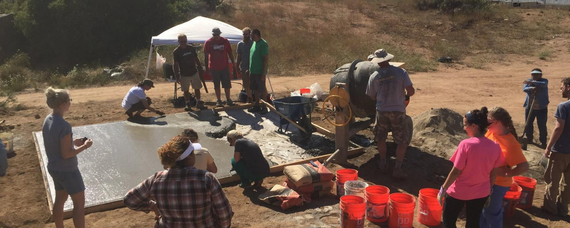 Tecate floors being poured