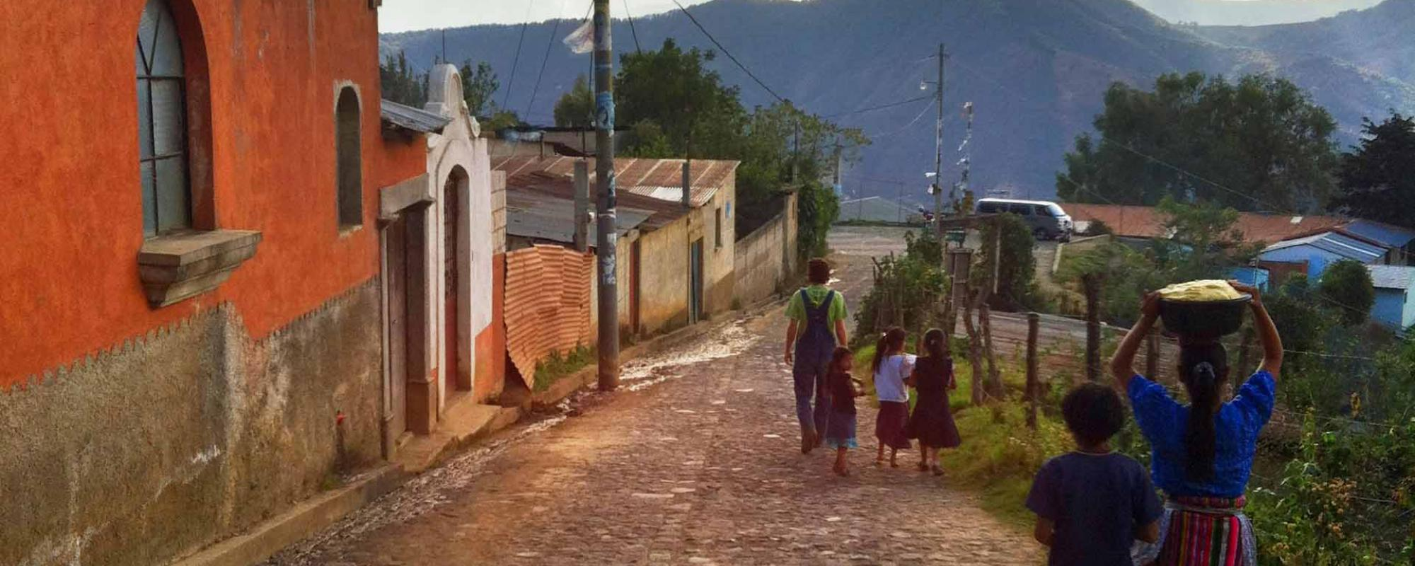 People in Guatemala carrying water