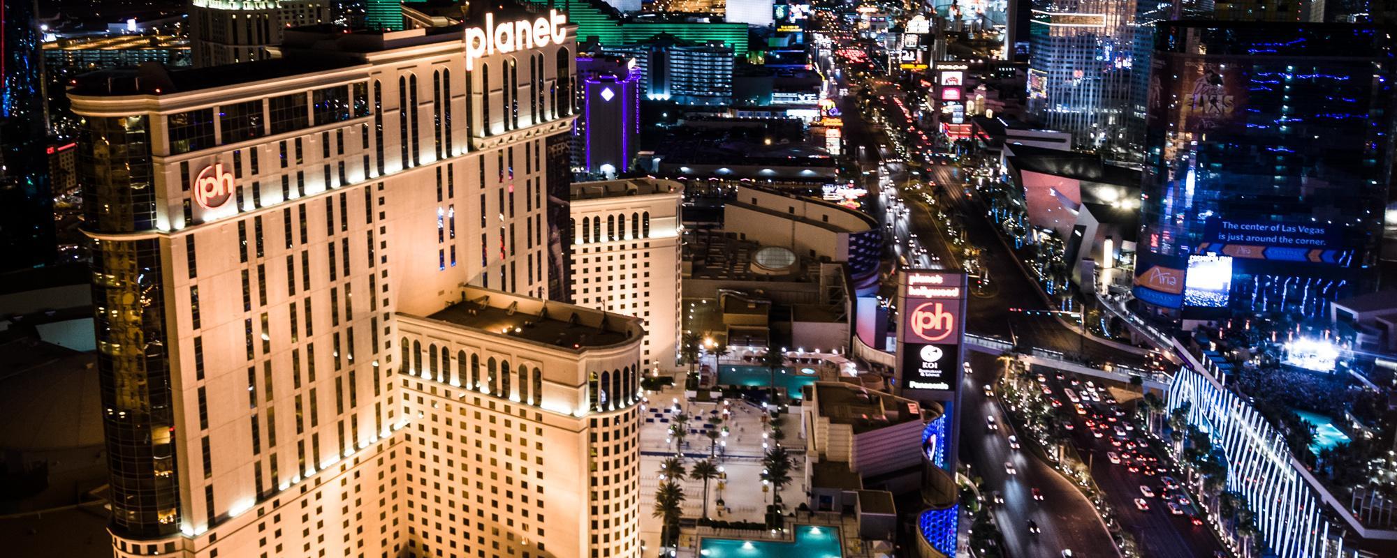 Las Vegas Strip ariel view